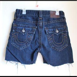 Men's true religion denim shorts